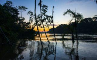 Sunset at the River Yaguas, Peru © Daniel Rosengren