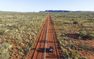 The Newhaven Stage 1 feral-proof fence extends for 44 kilometres © AWC
