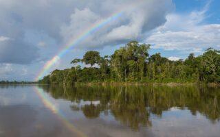 A rainbow over the rainforest along the Putumayo River, Peru © Daniel Rosengren